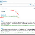 "Using the SharePoint Search ""Best Bet"" feature to redirect to a landing page"