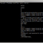 Querying FSIS with PowerShell