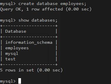 how to create database in mysql using sql script