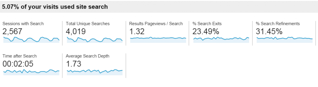 Site Search Usage